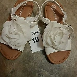 Cat & Jack Little Girls Sandals Size 10